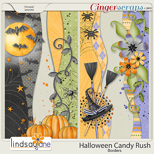 Halloween Candy Rush Borders by Lindsay Jane