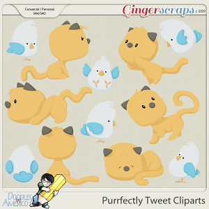 Doodles By Americo: Purrfectly Tweet Cliparts