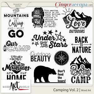 Camping Vol.2 Word Art