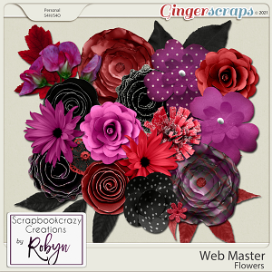 Web Master Flowers by Scrapbookcrazy Creations