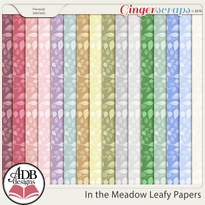 In the Meadow Leafy Cardstock by ADB Designs