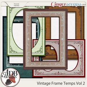Heritage Resource - Vintage Frame Templates Vol 02 by ADB Designs