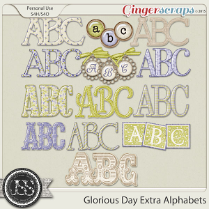 Glorious Day Extra Alphabets Pack