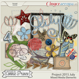 Project 2015 July - Mixed Media Elements