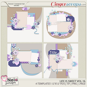 Life is Sweet 16 - Templates - By Neia Scraps