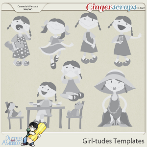 Doodles By Americo: Girl-tudes Templates