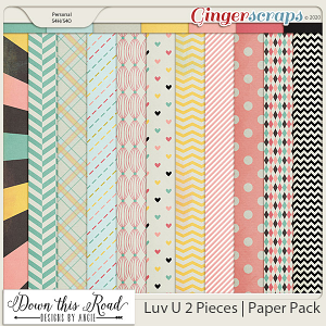 Luv U 2 Pieces | Paper Pack
