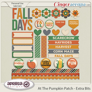 At The Pumpkin Patch - Extra Bits by Aprilisa Designs