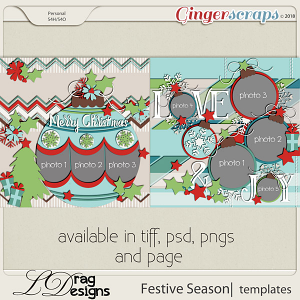 Festive Season: Templates by LDragDesigns