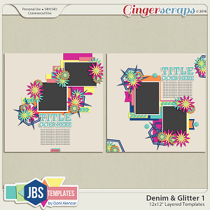 Denim & Glitter Templates 1 by JB Studio