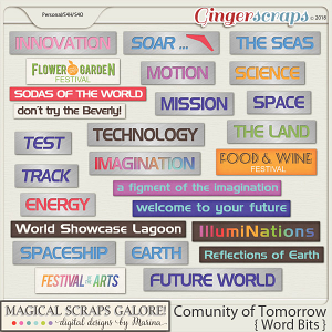 Community of Tomorrow (word bits)