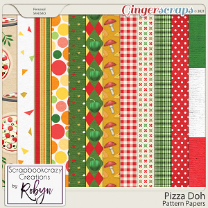 Pizza Doh Pattern Papers by Scrapbookcrazy Creations