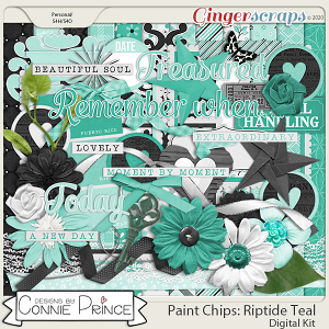 Paint Chips Riptide Teal - Kit by Connie Prince