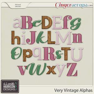 Very Vintage Alpha Sets by Aimee Harrison