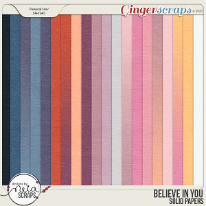 Believe in You - Solid Papers - by Neia Scraps
