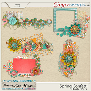 Spring Confetti Cluster Pack from Designs by Lisa Minor