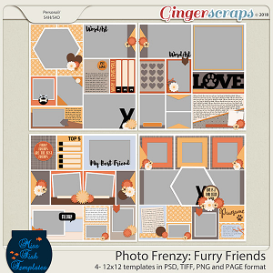 Photo Frenzy: Furry Friends by Miss Fish Templates